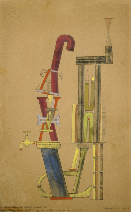 Little Machine Constructed by Minimax Dadamax in Person, - by Max Ernst